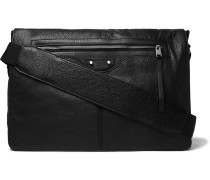 Arena Creased-leather Messenger Bag