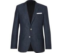 Blue Hutsons Slim-fit Woven Blazer