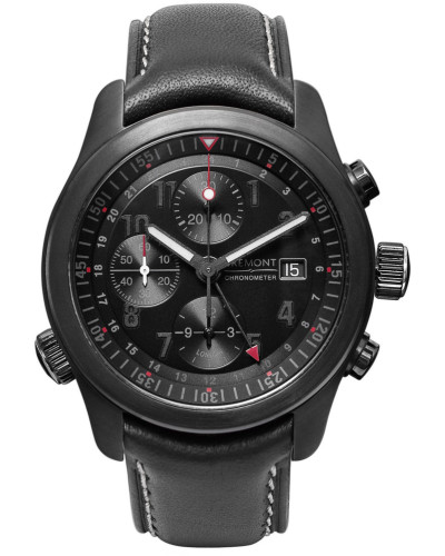 Alt1-b Automatic Chronograph 43mm Stainless Steel And Leather Watch - Black