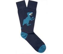 Dinosaur Stretch Cotton-blend Socks