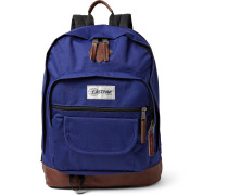 Sugarbush Into The Out Leather-trimmed Canvas Backpack