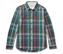 Checked Organic Cotton-twill Shirt