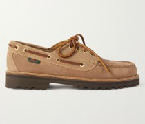 Weejuns '90 Boater Mix Panelled Suede Boat Shoes