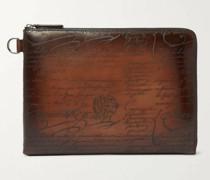 Nino Scritto Zip-Around Leather Pouch