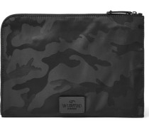 Camouflage-print Canvas Pouch
