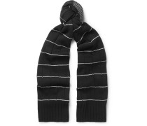 Striped Textured Wool And Cashmere-blend Scarf