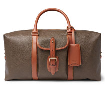 Heritage Leather-trimmed Pebble-grain Coated-canvas Holdall