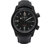 U-2/dlc Automatic 43mm Stainless Steel And Leather Watch