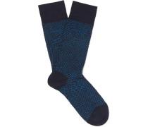 Polka-dot Stretch Mercerised Cotton-blend Socks