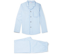 Nelson Cotton-jacquard Pyjama Set
