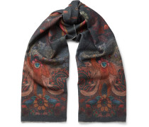 Monkey-print Wool And Cashmere-blend Scarf
