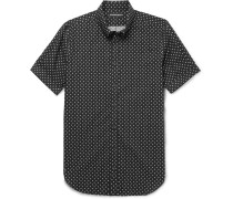 Button-down Collar Printed Cotton-poplin Shirt