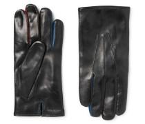 Contrast-trimmed Leather Gloves