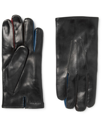 Contrast-trimmed Leather Gloves