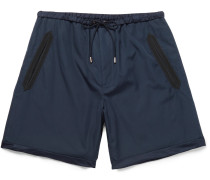 Silk Faille-trimmed Cotton Shorts