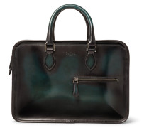 Un Jour Mini Polished-leather Briefcase