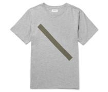 Slash Slim-fit Printed Mélange Cotton-jersey T-shirt
