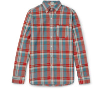 Madras-checked Cotton Shirt