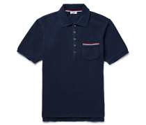 Slim-fit Distressed Cotton-jersey Polo Shirt