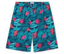 Floral-Print Cotton-Voile Pyjama Shorts