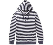 Tierney Striped Loopback Cotton-jersey Hoodie