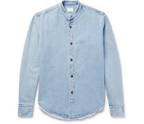 Monte Grandad-collar Denim Shirt