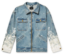 Oversized Painted Selvedge Denim Jacket