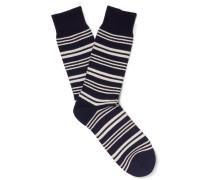 Hinton Striped Cotton-blend Socks
