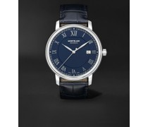 Tradition Automatic Date 40mm Stainless Steel and Alligator Watch, Ref. No. 117829