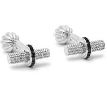 18-Karat White Gold Diamond Cufflinks