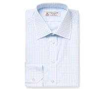 Blue Slim-fit Checked Cotton Shirt