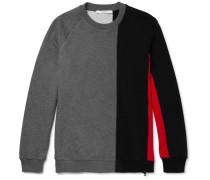Panelled Fleece-back Cotton-jersey Sweatshirt