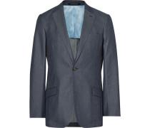 Blue Slim-fit Denim Suit Jacket