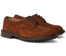 Daniel Leather-Trimmed Suede Derby Shoes