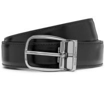 3cm Glossed And Matte Leather Belt