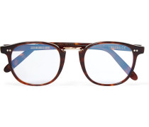 + Cutler And Gross D-frame Tortoiseshell Acetate And Rose Gold-tone Optical Glasses