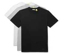 6 Moncler 1017 ALYX 9SM Three-Pack Logo-Print Cotton-Jersey T-Shirts