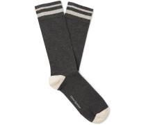 Miller Striped Stretch Cotton-Blend Socks