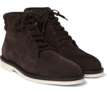 Icer Walk Cashmere-trimmed Suede Boots