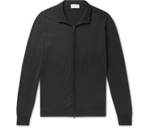 Claygate Merino Wool Zip-Up Cardigan
