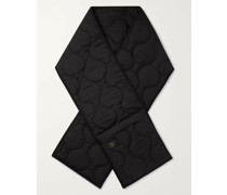 + Woolrich Logo-Appliquéd Quilted Padded Shell Scarf