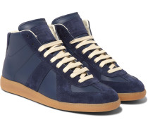 Replica Suede And Leather High-top Sneakers
