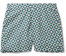 Pangra Short-Length Printed Swim Shorts
