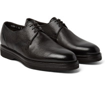 Shearling-lined Full-grain Leather Derby Shoes