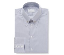 + Turnbull & Asser Slim-Fit Pinned-Collar Striped Cotton Shirt