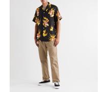 + Tim Lehi Camp-Collar Printed Lyocell Shirt