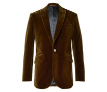 Newport Slim-Fit Cotton-Velvet Suit Jacket