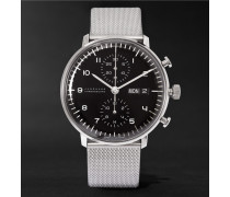 Max Bill Chronoscope Stainless Steel Watch