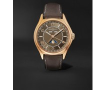 Fiftysix Automatic Complete Calendar 40mm 18-Karat Pink Gold and Leather Watch, Ref. No. 4000E/000R-B065