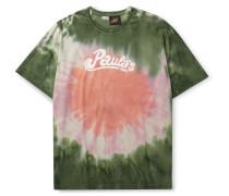 + Paula's Ibiza Oversized Logo-Print Tie-Dyed Cotton-Jersey T-Shirt